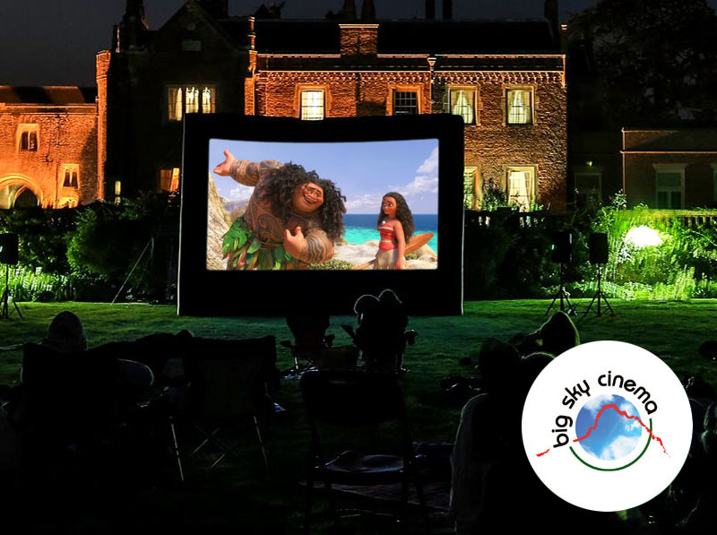 Big Screen Cinema entertainment in wonderful outside locations, with sound system, catering options, food truck & popcorn machine!