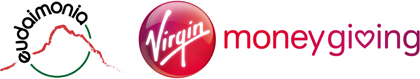 Virgin Money / Giving Logo and Links to the Virgin Giving website where you can donate to Eudaimonia