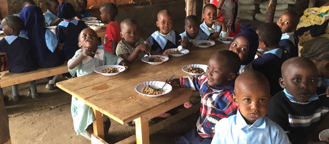 We have used this facility as a feeding center and we give the children a very balanced and nutritious meals enriched with Moringa and vegetables from our farm, including those they have planted themselves